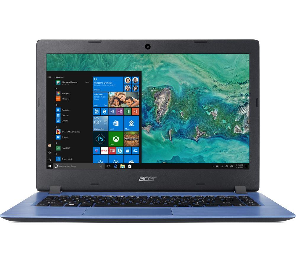 ACER Aspire 1 A114-32 14 inch Intel® Celeron Laptop - 64 GB eMMC, Blue