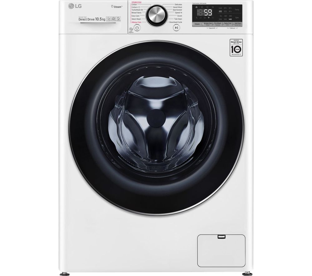 LG TurboWash with AI DD V7 F4V710WTS WiFi-enabled 10.5 kg 1400 Spin Washing Machine - White