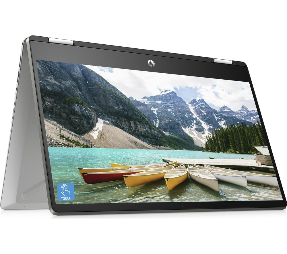 Image of HP Pavilion x360 14-dh0500sa 14? Intelu0026reg Pentium? Gold 2 in 1 Laptop - 128 GB SSD, Silver, Gold