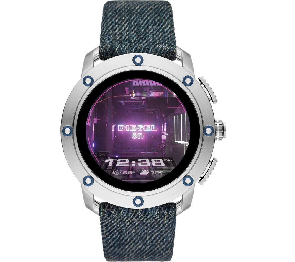 DIESEL AXIAL DZT2015 Smartwatch - Gunmetal, Blue Strap