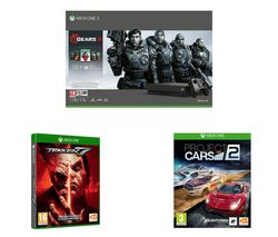 MICROSOFT Xbox One X with Gears 5, Tekken 7 & Project Cars 2 Bundle