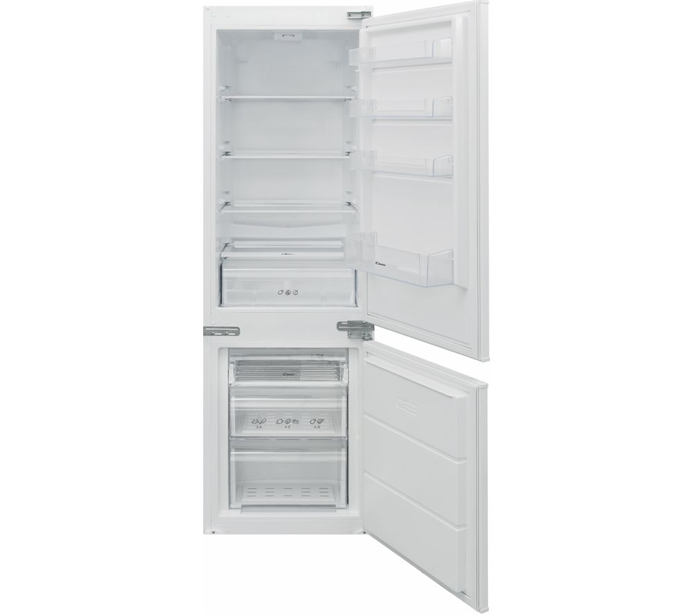 CANDY BCBS 174 TTK Integrated 70/30 Fridge Freezer - Sliding Hinge, Transparent