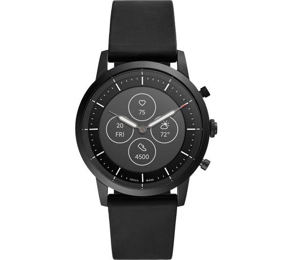 Image of FOSSIL Collider Hybrid HR FTW7010 Smartwatch - Black, Silicone Strap