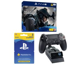 SONY PlayStation 4 Pro with Call of Duty: Modern Warfare, Twin Docking Station & PlayStation Plus 3 Month Subscription Bundle