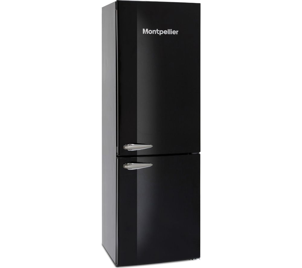 MONTPELLIER MAB385K 60/40 Fridge Freezer – Black, Black