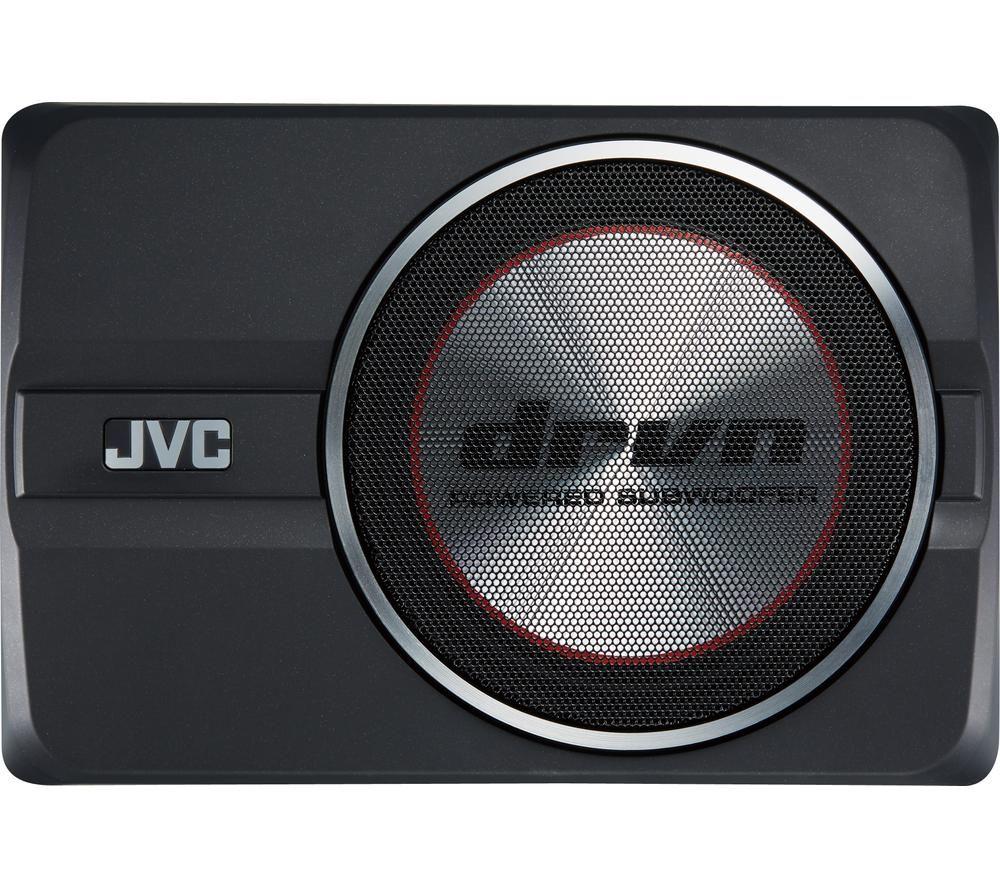 JVC CW-DRA8 Car Subwoofer - Black, Black
