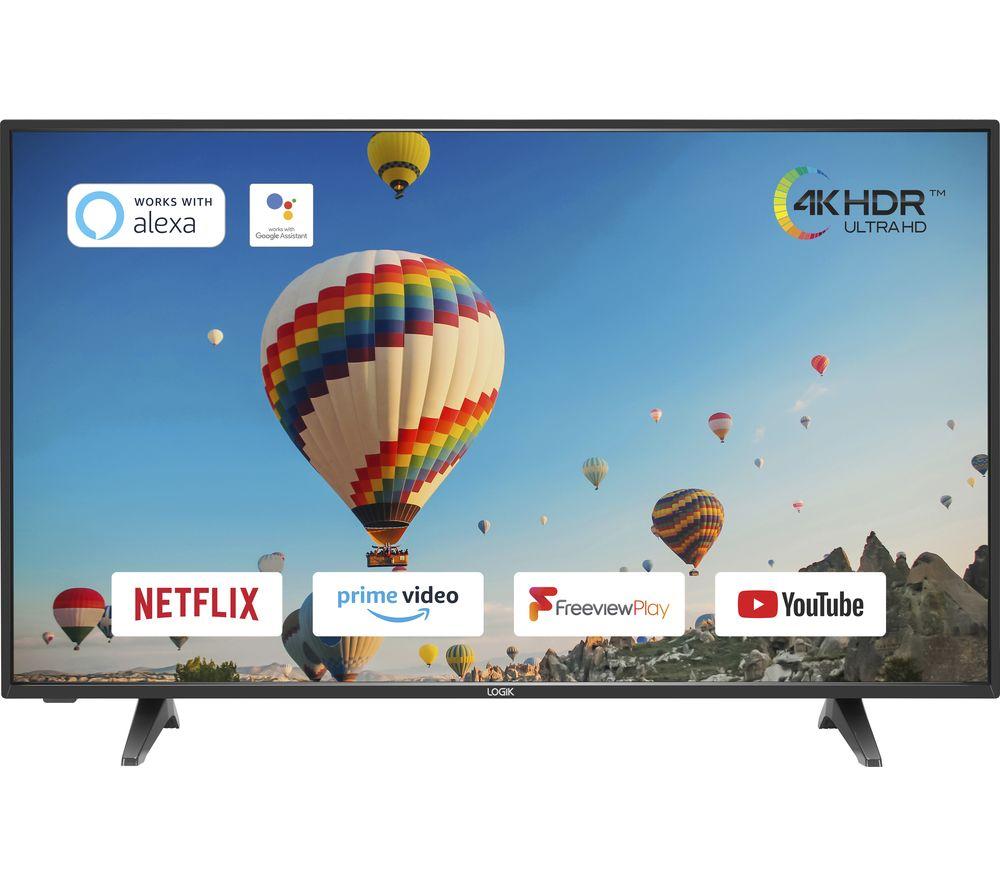 "LOGIK L50UE20 50"" Smart 4K Ultra HD HDR LED TV"