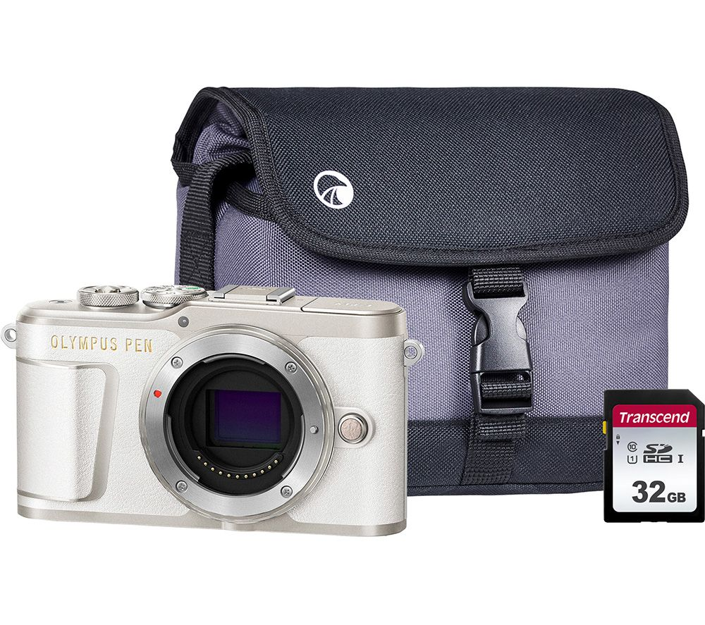 Image of OLYMPUS PEN E-PL9 Mirrorless Camera with 32 GB SD Card & Case - White, Body Only, White