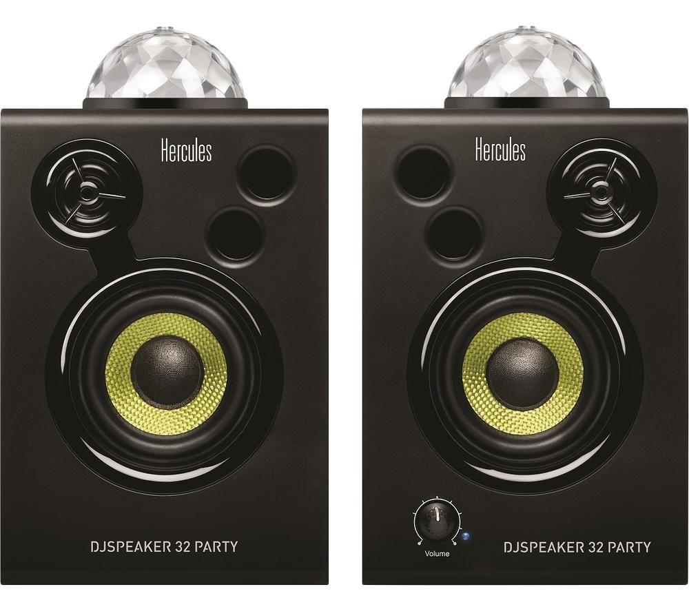 HERCULES DJSpeaker 32 Party Speakers - Black