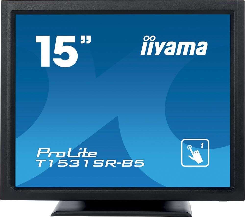 "IIYAMA ProLite T1531SR-B5 15"" LCD Touchscreen Monitor - Black"