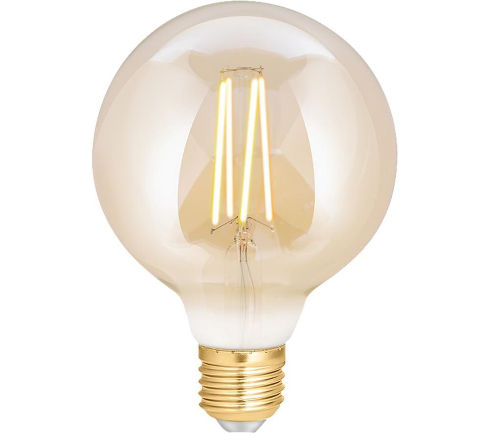 WIZ CONNEC Whites Filament Dimmable Smart LED Light Bulb - E27, Yellow