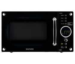 DAEWOO Retro KOR8A9RB Solo Microwave - Black Best Price, Cheapest Prices
