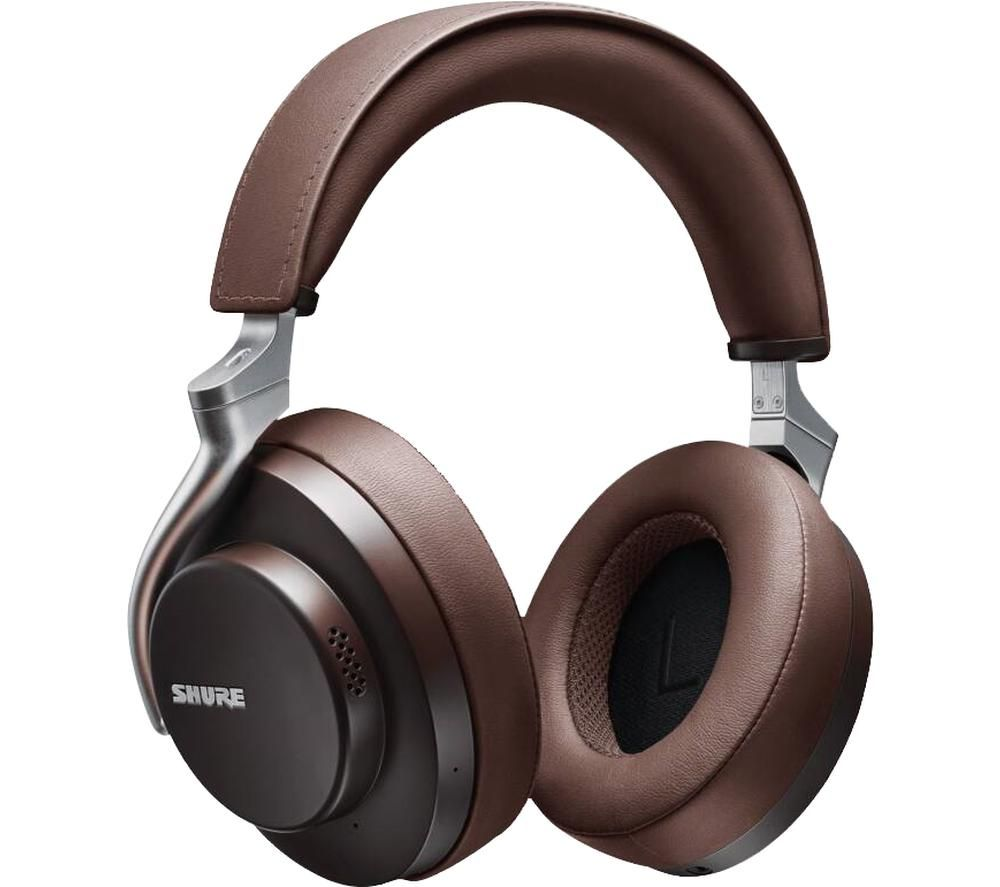 SHURE Aonic 50 SBH2350-BR-EFS Wireless Bluetooth Noise-Cancelling Headphones - Brown