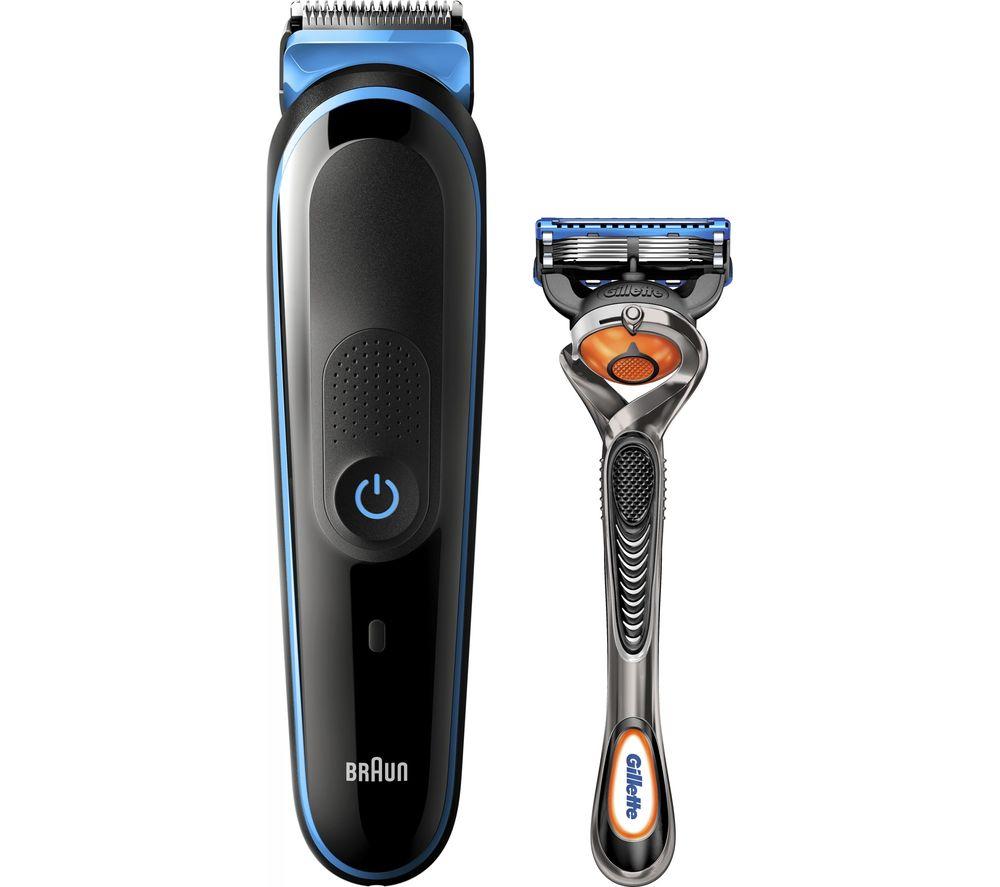 BRAUN MGK3245 7-in-1 Beard Trimmer Set - Blue & Black