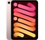 £759, APPLE 8.3inch iPad mini Cellular (2021) - 256 GB, Pink, iPadOS, Liquid Retina display, 256GB storage: Perfect for saving pretty much everything, Battery life: Up to 10 hours, Compatible with Apple Pencil (2nd generation),