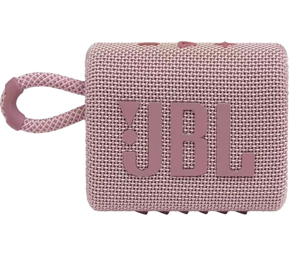 JBL GO3 Portable Bluetooth Speaker - Pink