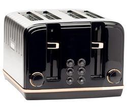 Salcombe 191168 4-Slice Toaster - Black & Copper