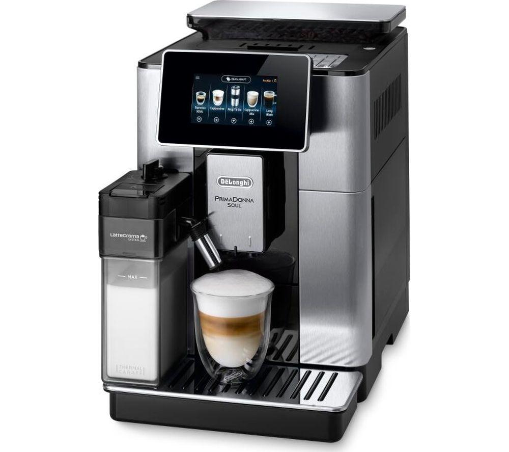 DELONGHI PrimaDonna Soul ECAM610.75 Smart Bean to Cup Coffee Machine - Silver & Black