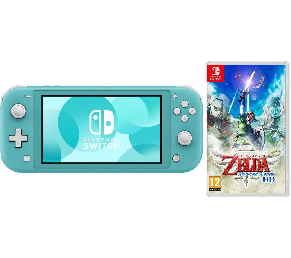 NINTENDO Switch Lite Turquoise & The Legend of Zelda: Skyward Sword HD Bundle