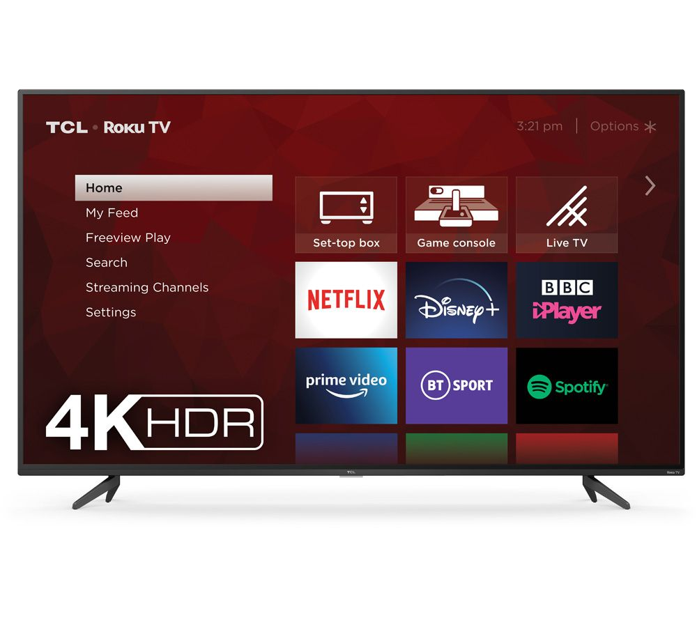 "65"" TCL 65RP620K Roku Smart 4K Ultra HD HDR LED TV"