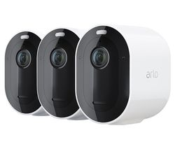 Pro 4 Quad HD WiFi Security Camera System - 3 Cameras, White