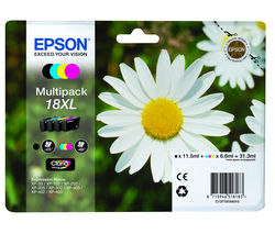EPSON Daisy T1816 XL Cyan, Magenta, Yellow & Black Ink Cartridges - Multipack