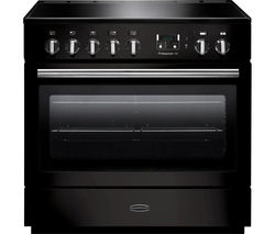 RANGEMASTER Professional+ FX 90 Electric Induction Range Cooker - Gloss Black & Chrome