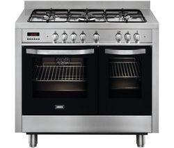 ZCK18307XA Dual Fuel Range Cooker - Stainless Steel