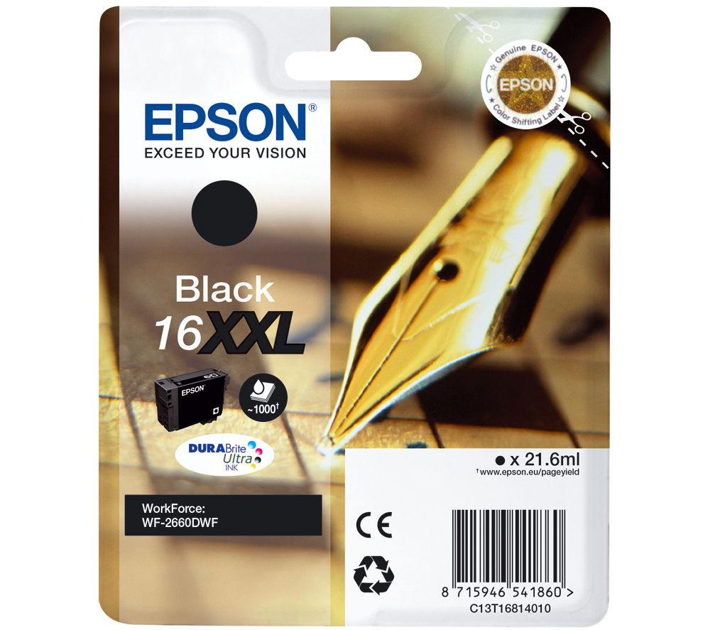 EPSON Pen & Crossword T1681 XXL Black Ink Cartridge