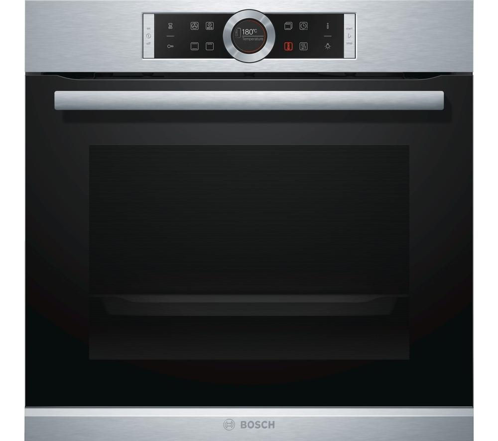 bosch serie 8 hbg634bs1b electric oven stainless steel. Black Bedroom Furniture Sets. Home Design Ideas