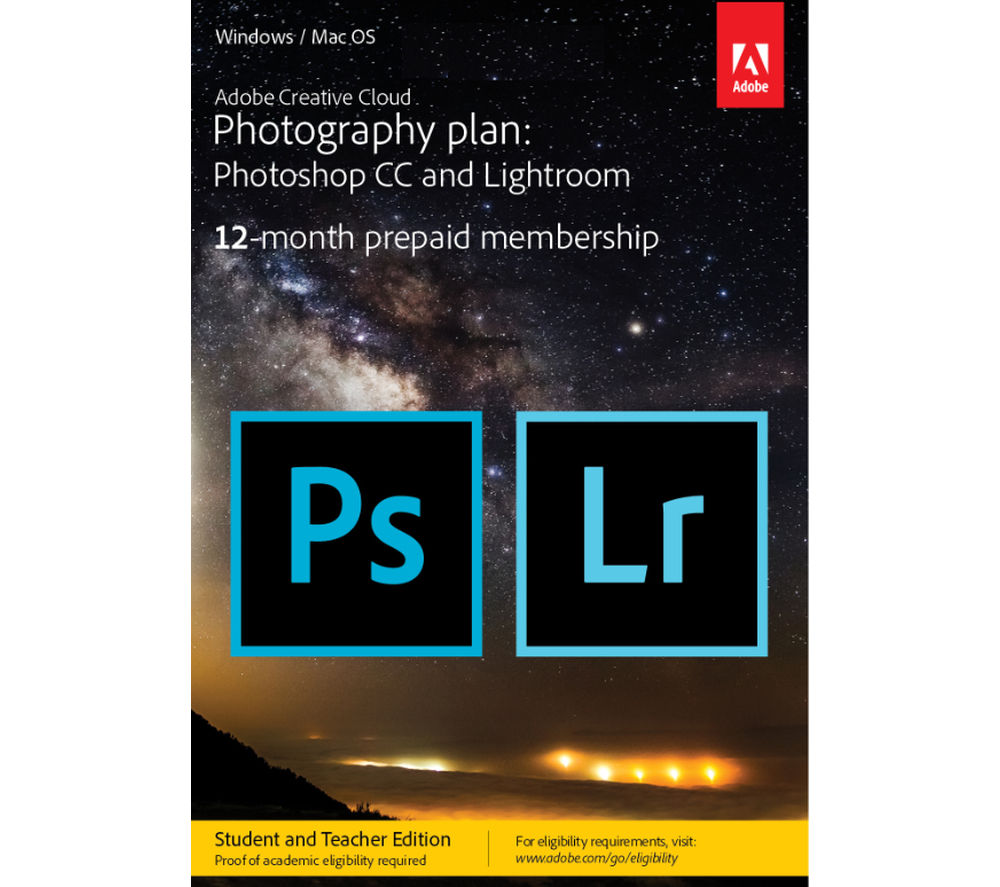 ADOBE Creative Cloud Photography Plan - Student Edition