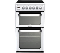 HOTPOINT HUE52PS 50 cm Electric Ceramic Cooker - White Best Price, Cheapest Prices