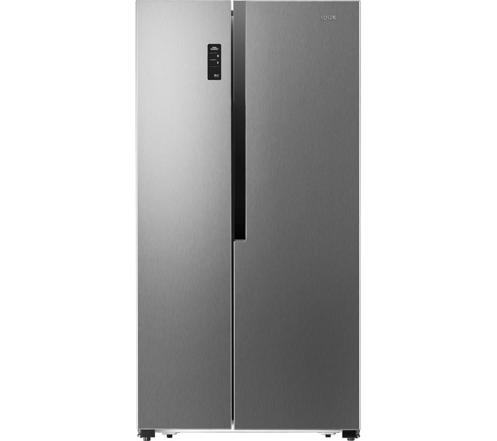 LOGIK LSBSX16 American-Style Fridge Freezer - Silver