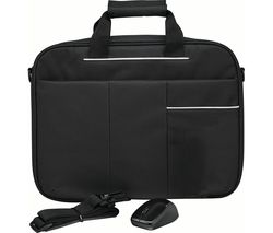 "LOGIK L15BUN16 15.6"" Laptop Case with Wireless Mouse & Screen Wipes - Black"