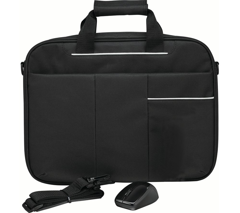 "LOGIK L15BUN16 15.6"" Laptop Case, Wireless Mouse & Screen Wipes - Black"