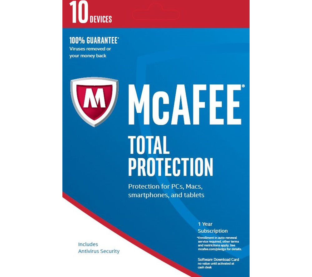 MCAFEE Total Protection 2017 - 1 year for 10 devices