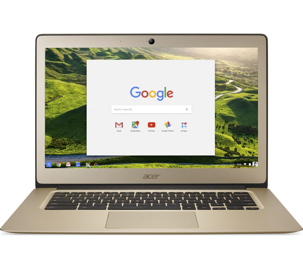 "ACER CB3-431 14"" Intel® Celeron® Full HD Chromebook - 32 GB eMMC, Gold + Cloud Storage for Tablets & Mobiles - 200 GB, 1 year"