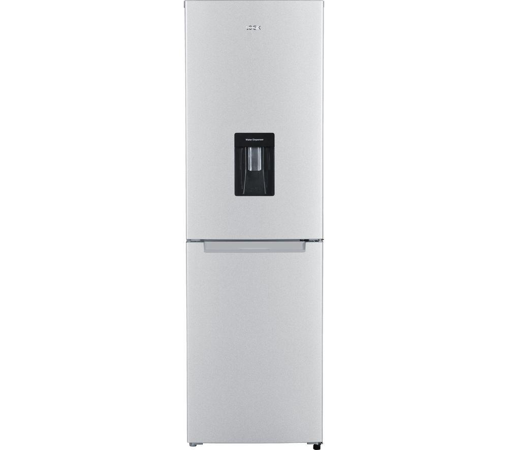 Image of LOGIK LFFD55S17 50/50 Fridge Freezer - Silver, Silver