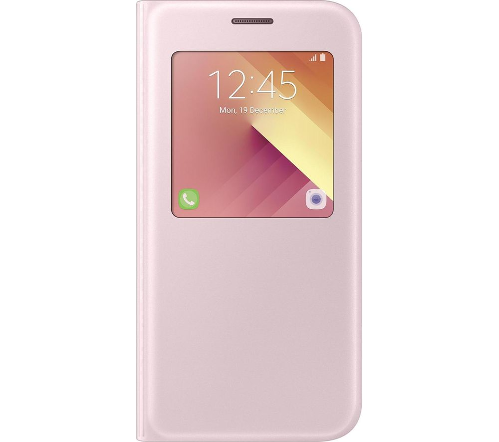 SAMSUNG Galaxy A5 Clear View Case - Pink Gold