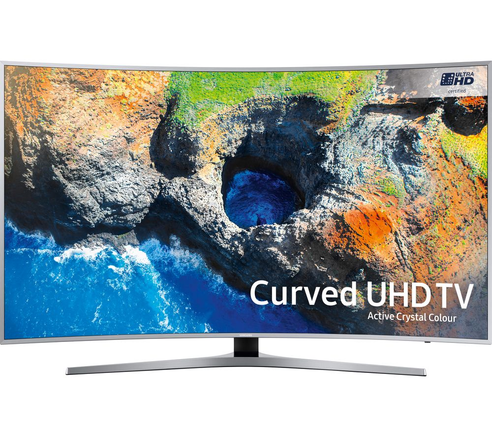 "SAMSUNG 65MU6500 65"" Smart 4K Ultra HD HDR Curved LED TV + S1HDM315 HDMI Cable with Ethernet - 1 m"