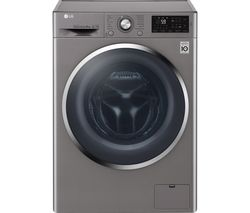 LG F4J6TN2S NFC 8 kg 1400 Spin Washing Machine - Shine Steel