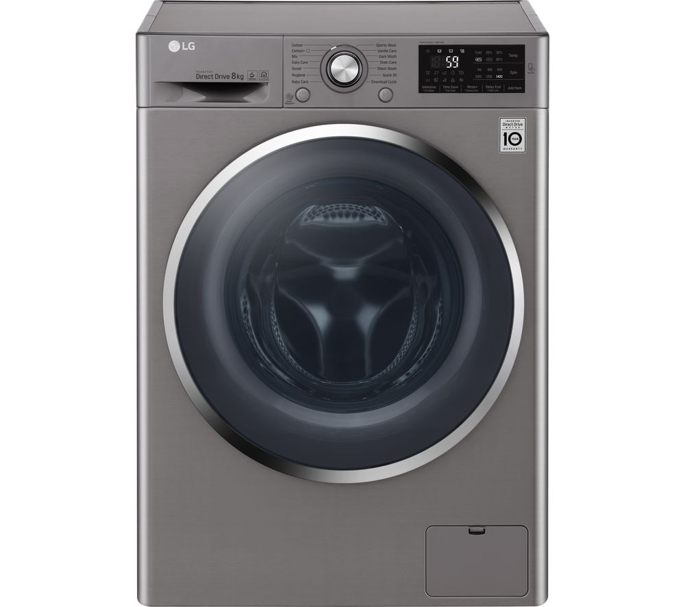 Compare prices for LG F4J6TN2S NFC 8 kg 1400 Spin Washing Machine Shine Steel