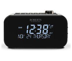 ROBERTS Ortus 3 DAB/FM Clock Radio - Black