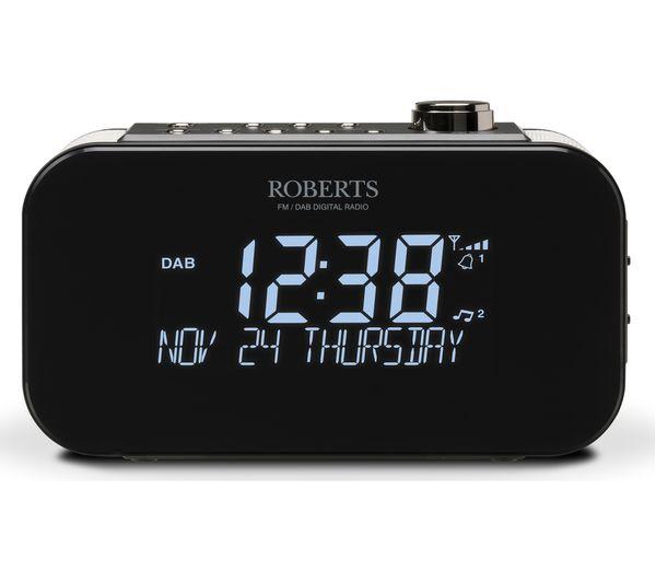Image of ROBERTS Ortus 3 DAB/FM Clock Radio - Black