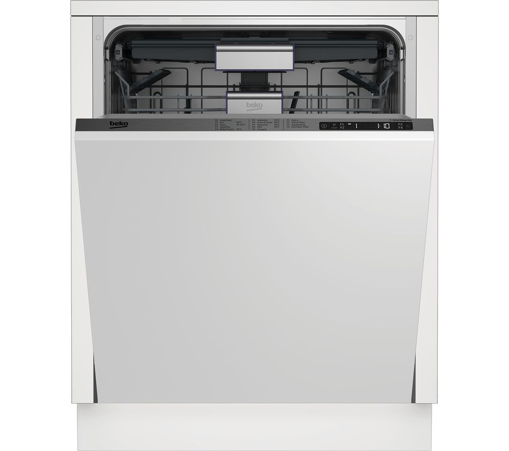 Image of BEKO DIN29X20 Full-size Integrated Dishwasher, Red