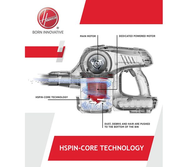 HOOVER Discovery DS22G Cordless Vacuum Cleaner - Titanium & Red