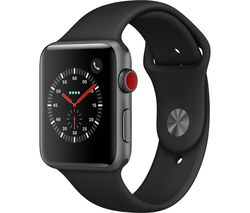 APPLE Watch Series 3 Cellular - Black, 42 mm