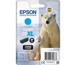 EPSON Polar Bear 26XL Cyan Ink Cartridge
