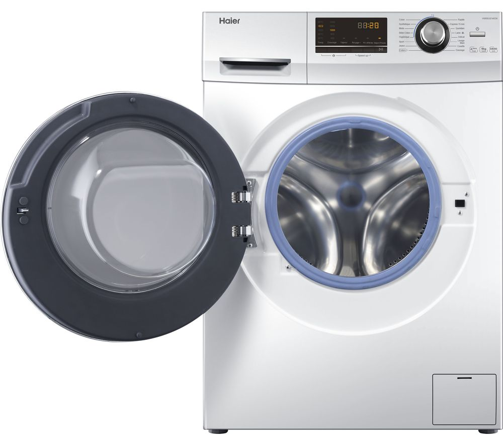 HAIER HW90-B14636 9 kg 1400 Spin Washing Machine - White, White