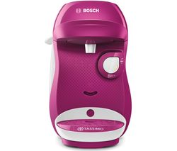 by Bosch Happy TAS1001GB Coffee Machine - Purple & White